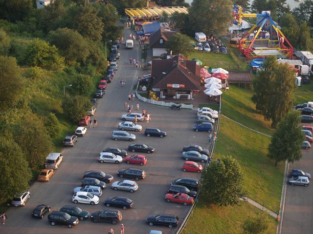 Usługi dronami - Zdjęcia z drona baru nad Soliną