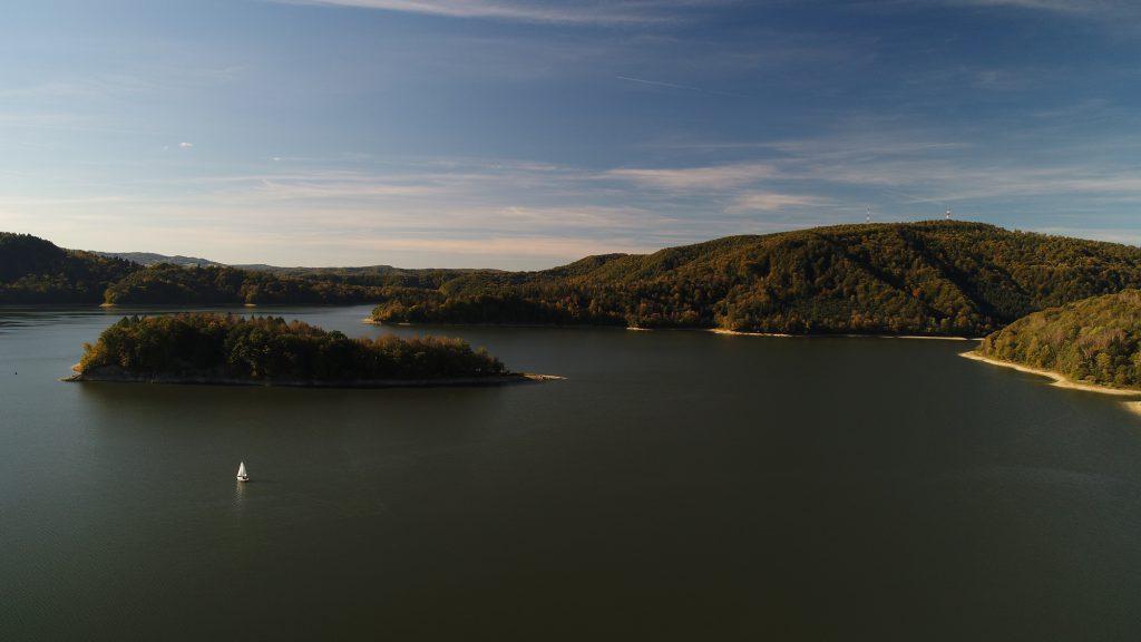 Wyspa Skalista Jezioro Solińskie