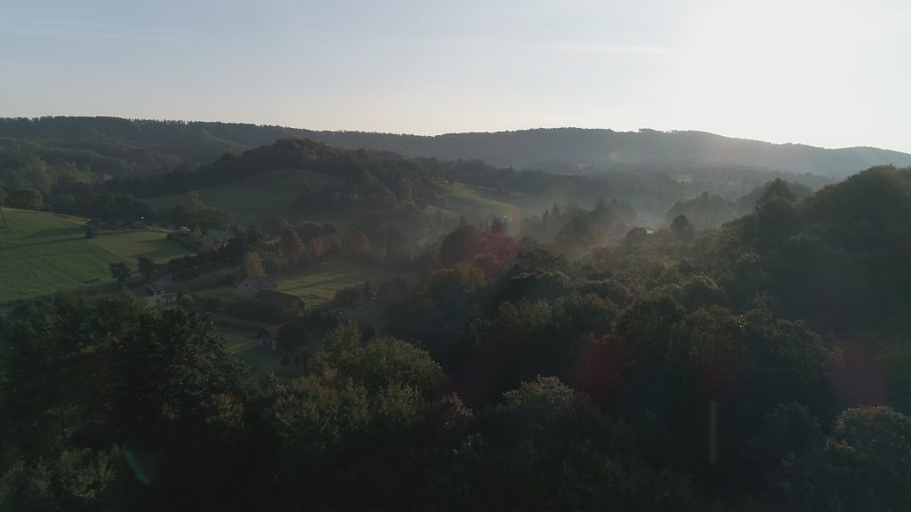 Wschód słońca w Bieszczadach